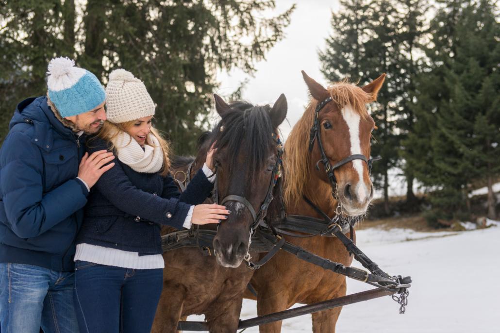 Winter in Ischgl - Pferdeschlitten